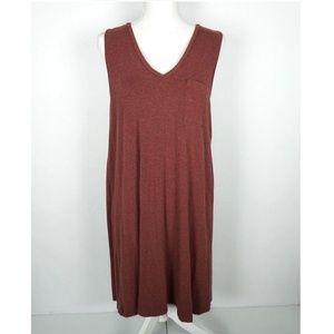 Madewell Dress Size Large Pocket Shift Maroon